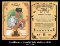 2004 Diamond Kings DK Materials Bronze #160