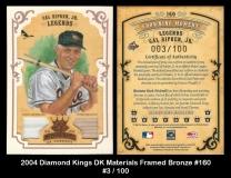 2004 Diamond Kings DK Materials Framed Bronze #160