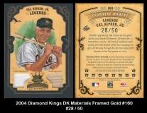 2004 Diamond Kings DK Materials Framed Gold #160