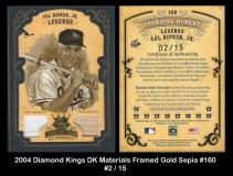 2004 Diamond Kings DK Materials Framed Gold Sepia #160