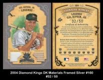 2004 Diamond Kings DK Materials Framed Silver #160