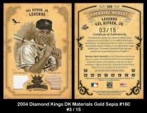 2004 Diamond Kings DK Materials Gold Sepia #160