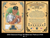 2004 Diamond Kings DK Materials Platinum #160