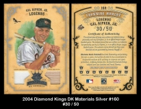 2004 Diamond Kings DK Materials Silver #160