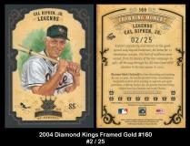 2004 Diamond Kings Framed Gold #160
