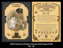 2004 Diamond Kings Framed Gold Sepia #160