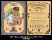2004 Diamond Kings Framed Silver #160