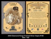 2004 Diamond Kings Framed Silver Sepia #160