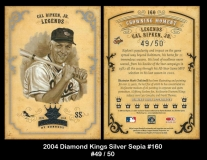 2004 Diamond Kings Silver Sepia #160