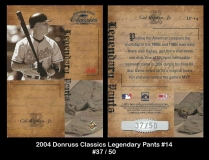 2004 Donruss Classics Legendary Pants #14