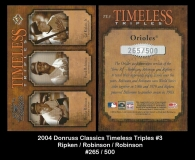 2004 Donruss Classics Timeless Triples #3