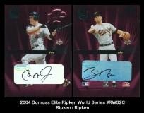 2004 Donruss Elite Ripken World Series #RWS2C