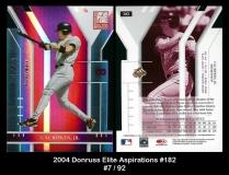 2004 Donruss Elite Aspirations #182
