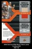 2004 Donruss Elite Back 2 Back Jacks Combos #23