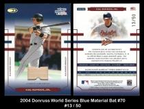 2004 Donruss World Series Blue Material Bat #70
