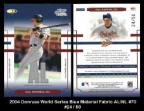 2004 Donruss World Series Blue Material Fabric AL NL #70