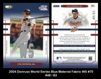 2004 Donruss World Series Blue Material Fabric WS #70
