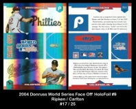 2004 Donruss World Series Face Off HoloFoil #9