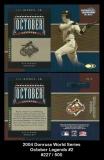 2004 Donruss World Series October Legends #2