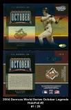 2004 Donruss World Series October Legends HoloFoil #2