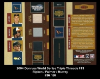2004 Donruss World Series Triple Threads #13