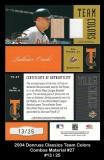 2004 Donruss Classics Team Colors Combos Material #27