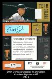 2004 Donruss Classics Team Colors Combos Signature #27