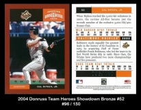 2004 Donruss Team Heroes Showdown Bronze #52