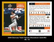 2004 Donruss Team Heroes Showdown Gold #52