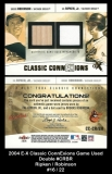 2004 E-X Classic ConnExions Game Used Double #CRBR