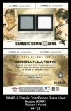 2004 E-X Classic ConnExions Game Used Double #CRRY