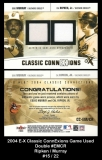 2004 E-X Classic ConnExions Game Used Double #EMCR
