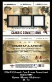 2004 E-X Classic ConnExions Game Used Triple #RMR