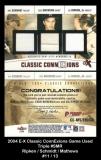 2004 E-X Classic ConnExions Game Used Triple #SMR