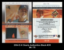 2004 E-X Clearly Authentics Black #CR