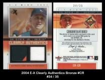 2004 E-X Clearly Authentics Bronze #CR