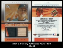 2004 E-X Clearly Authentics Pewter #CR