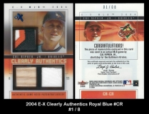 2004 E-X Clearly Authentics Royal Blue #CR