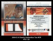 2004 E-X Clearly Authentics Tan #CR