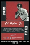 2004 Fleer InScribed Names of the Game #16
