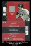 2004 Fleer InScribed Names of the Game Material Copper #CR