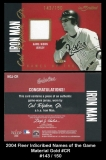 2004 Fleer InScribed Names of the Game Material Gold #CR