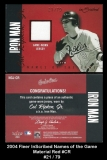 2004 Fleer InScribed Names of the Game Material Red #CR