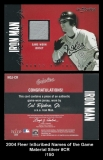 2004 Fleer InScribed Names of the Game Material Silver #CR