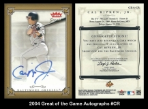 2004 Greats of the Game Autographs #CR
