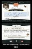 2004 Leaf Certified Cuts Check Signature Blue #7