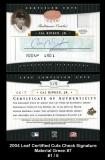 2004 Leaf Certified Cuts Check Signature Material Green #7