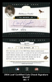 2004 Leaf Certified Cuts Check Signature Red #7