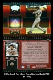 2004 Leaf Certified Cuts Marble Red #222