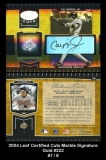 2004 Leaf Certified Cuts Marble Signature Gold #222